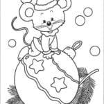 год для детей распечатать раскраски про новый А4