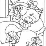 год и рождество раскраски новый А4