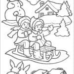 годом открытки раскраски с новым А4