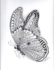 i-babochki-kartinki-raskraski-cvety-232x300 Бабочки