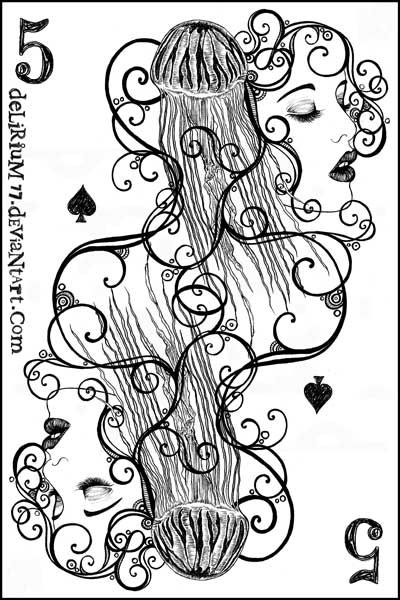 игральные карты раскраска (9)