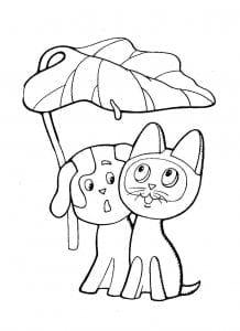 имени гав картинки раскраски котенок по