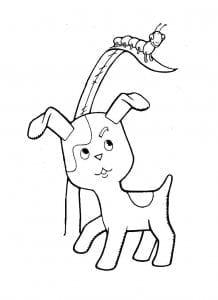 по имени гав раскраска распечатать котенок 1