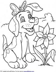 изображение собаки для раскраски