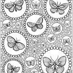 картинка раскраска для детей бабочка