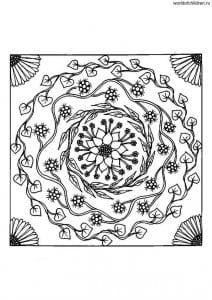 kartinki-raskraski-antistress-mandaly-212x300 Мандалы на белом