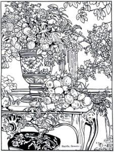 картины известных художников раскраска (5)