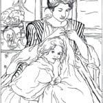 картины известных художников раскраска (6)