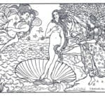 картины известных художников раскраска (9)