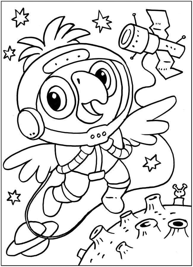 кеша распечатать раскраска попугай