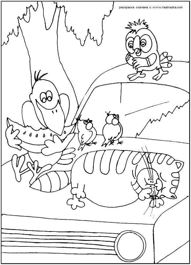 кешу распечатать раскраски про попугая