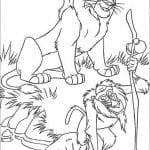 король лев 2 раскраски