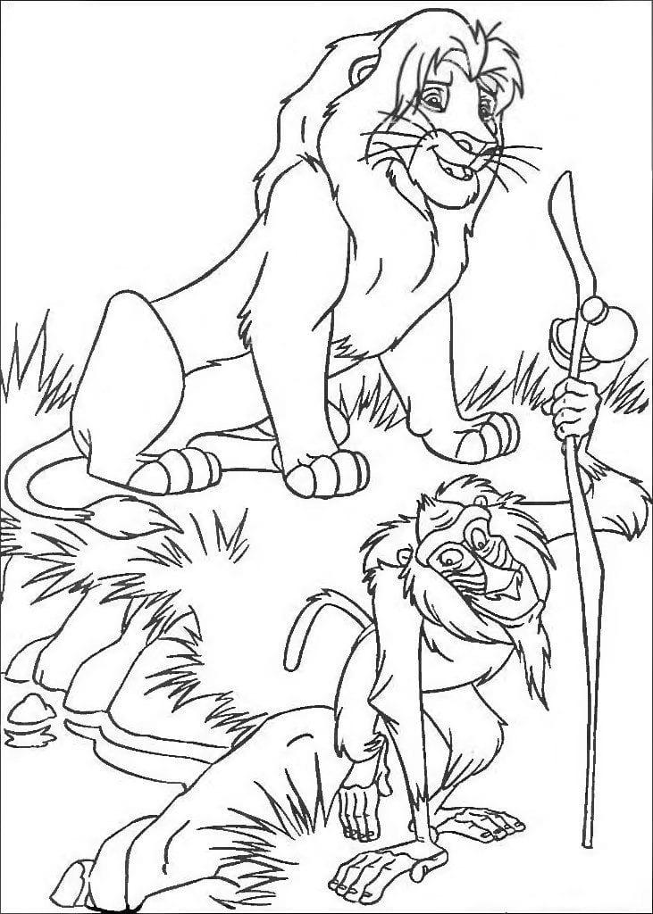 korol-lev-2-raskraski король лев 2 раскраски