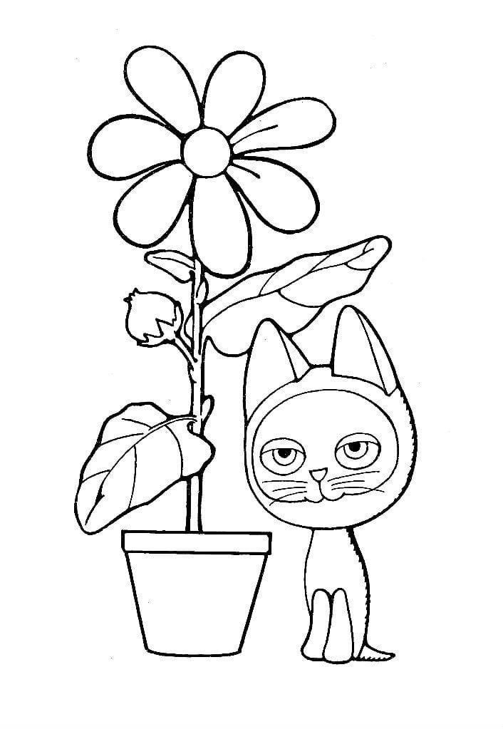 kotenok-po-imeni-gav-raskraska котенок по имени гав раскраска распечатать