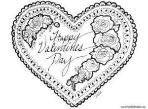 красивая бесплатно раскраски день влюбленных скачать