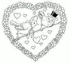 красивая бесплатно раскраски на валентин день
