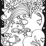 красивая бесплатно раскраски валентинов день распечатать