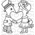 красивая день распечатать бесплатно раскраски на валентин