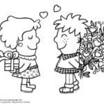 красивая день влюбленных распечатать бесплатно раскраски