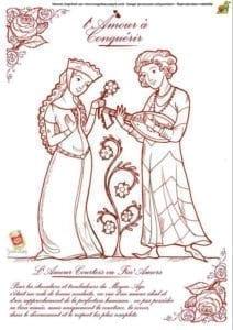 красивая дню валентина скачать раскраска