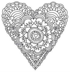 красивая раскраски на день святого валентина распечатать