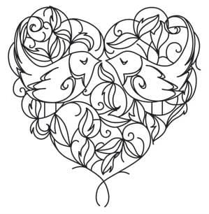 красивая раскраски на день святого валентина бесплатно