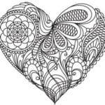 красивая раскраски на валентин день распечатать