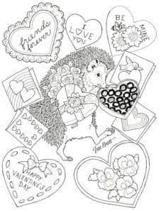 красивая раскраски валентинов день распечатать бесплатно