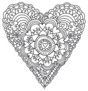 красивая раскраски валентинов день распечатать