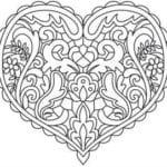 красивая распечатать бесплатно раскраска дню валентина