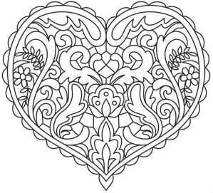 krasivaja-raspechatat-besplatno-raskraska-dnju красивая распечатать бесплатно раскраска дню валентина