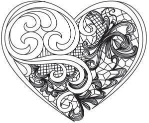 красивая распечатать бесплатно раскраски на день святого валентина