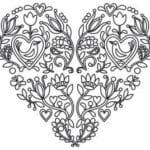 красивая распечатать раскраска дню валентина