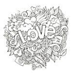 красивая распечатать раскраски день влюбленных