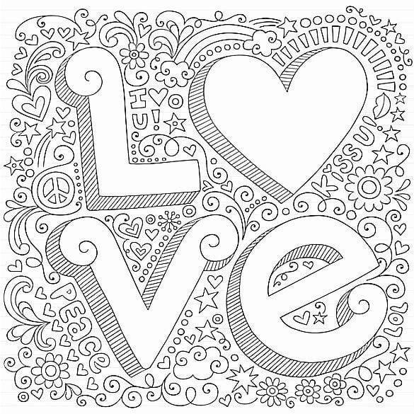 krasivaja-svjatogo-valentina-besplatno-raskraski красивая святого валентина бесплатно раскраски на день