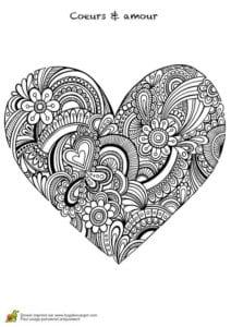 красивая валентин день раскраски на