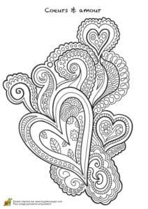 красивая валентин день распечатать бесплатно раскраски на