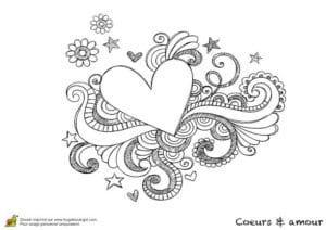 красивая валентин день распечатать раскраски на