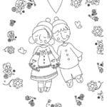 красивая валентина распечатать раскраски на день святого