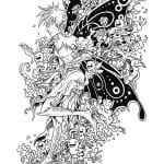 крупные раскраски бабочки