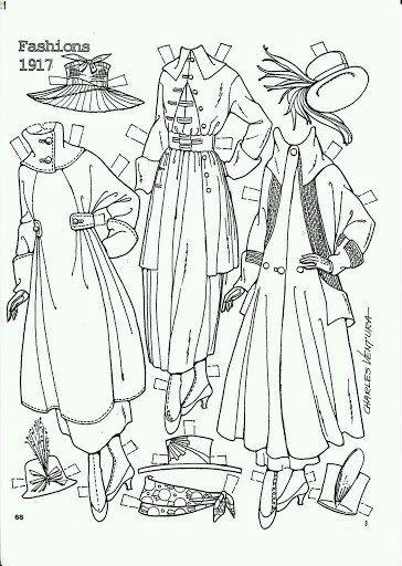 кукла для одевания бумажная распечатать - Рисовака
