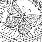 лет раскраска бабочка детей 3