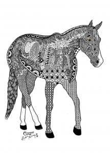 лошади раскраски девочек животные