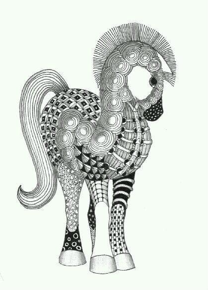 лошади раскраски для девочек бесплатно