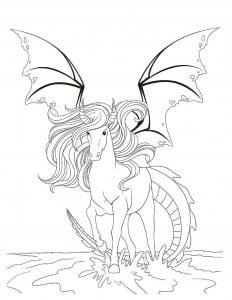 лошади раскраски для детей пегас