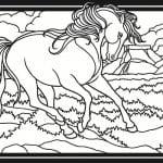 лошадь для детей онлайн раскраска