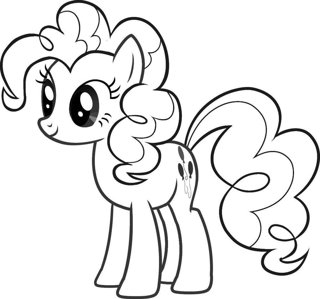маленький пони раскраска а4 рисовака