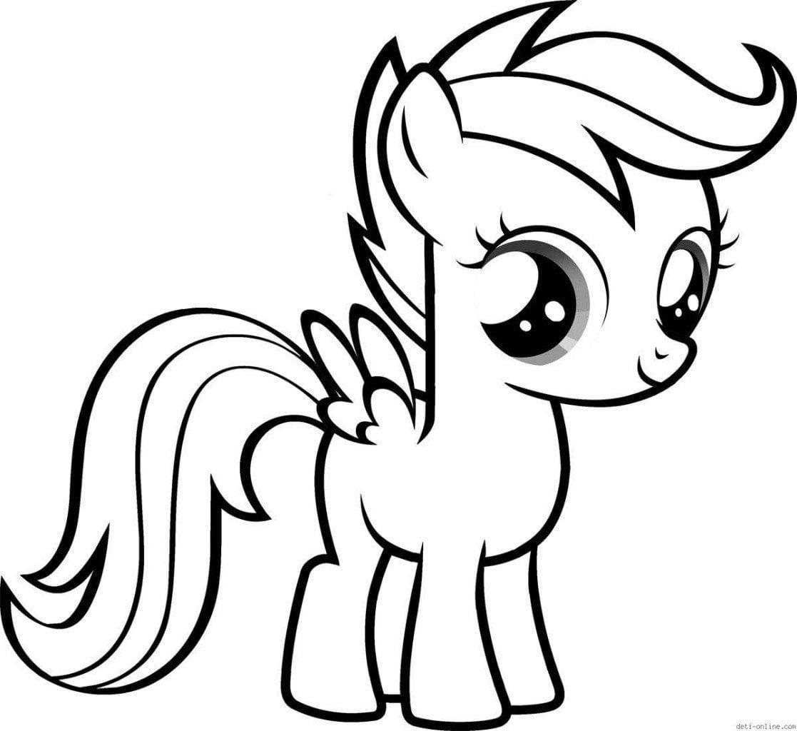 malenkij-poni-raskraska-moj маленький пони раскраска мой