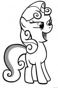 маленький пони раскраски напечатать мой