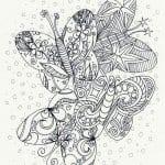 малышей раскраска бабочка распечатать для